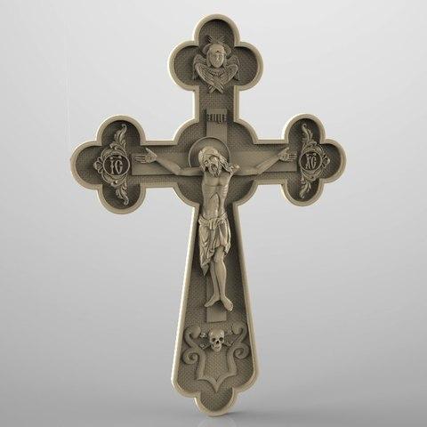 Download free 3D printer designs Religious frame cnc art router cross jesus christ , Terhrinai