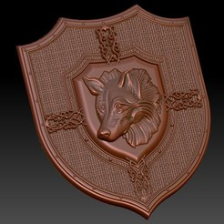 Download free STL file Frame wolf art blason, Terhrinai