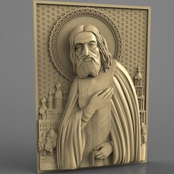 Descargar STL gratis saint cnc router art christian catholic, Terhrinai