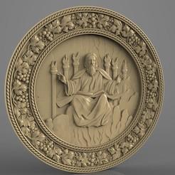 Télécharger STL gratuit Cadre religieux cnc art routeur dieu cnc art dans son trône, Terhrinai