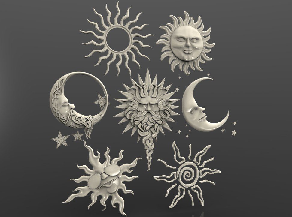 orn_sun_moon.jpg Télécharger fichier STL gratuit soleil lune art cnc routeur art • Design pour impression 3D, Terhrinai