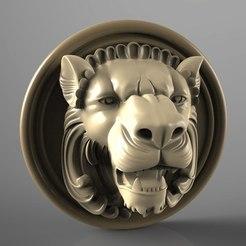 Lion_OBJ.jpg Télécharger fichier STL gratuit Buste de lion art cnc • Plan pour imprimante 3D, Terhrinai