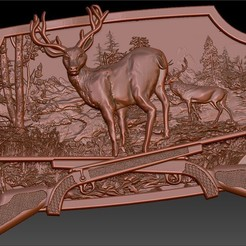Descargar modelo 3D gratis deers family cnc router art scene hunting weapons guns, Terhrinai