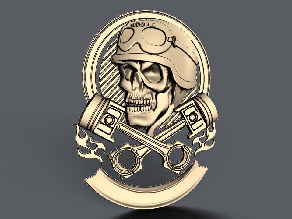 238.jpg Télécharger fichier STL gratuit crâne avec pistons moto biker cnc art • Modèle à imprimer en 3D, Terhrinai