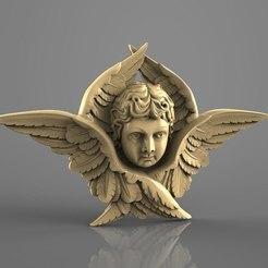 Download free 3D model Little angel frame cnc router art , Terhrinai