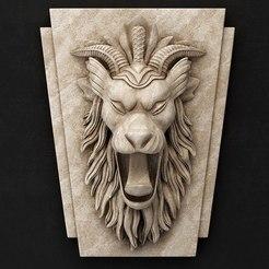 Descargar archivos 3D gratis león escultura busto diseño cnc art, Terhrinai