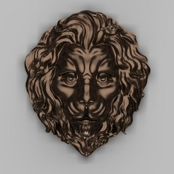 Imprimir en 3D gratis Busto de león art cnc, Terhrinai