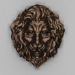 Download free 3D printer templates Lion bust art cnc, Terhrinai