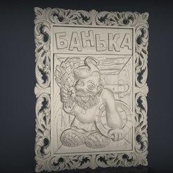 Descargar archivo 3D gratis enano barba cnc art frame, Terhrinai