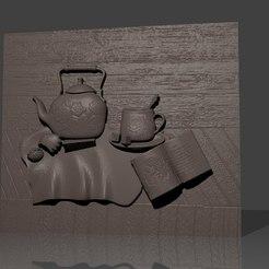 Télécharger objet 3D gratuit cuisine scène cnc routeur art, Terhrinai