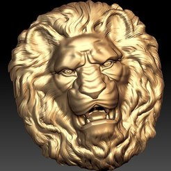 Télécharger plan imprimante 3D gatuit Lion face cnc art, Terhrinai