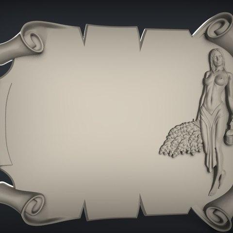 Free 3D printer model superb naked lady sign cnc art , Terhrinai
