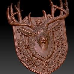 Descargar modelo 3D gratis venado trofeo cnc router art, Terhrinai