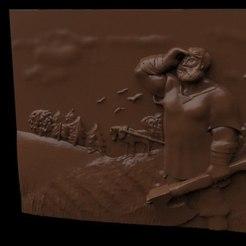 Mikula.jpg Télécharger fichier STL gratuit Mikula scène de chasse cnc routeur • Modèle pour imprimante 3D, Terhrinai