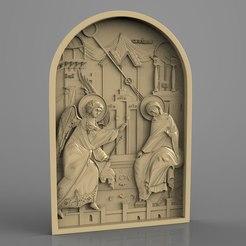 blagoveshenie_bogorodici.jpg Télécharger fichier STL gratuit blagoveshenie bogorodici saint art religieux • Modèle pour imprimante 3D, Terhrinai