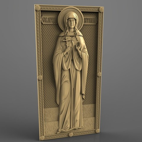 Download free 3D printer designs saint cnc router art christian catholic, Terhrinai