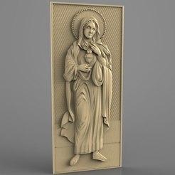 Télécharger STL gratuit Cadre religieux cnc art routeur, Terhrinai