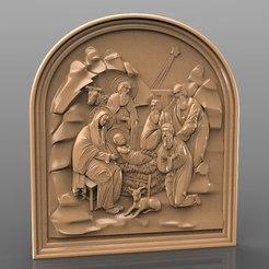 Télécharger fichier impression 3D gratuit naissance du routeur cnc christ jesus, Terhrinai