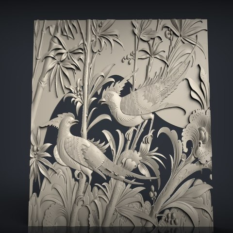 Download free STL two birds on a tree cnc router ・ Cults