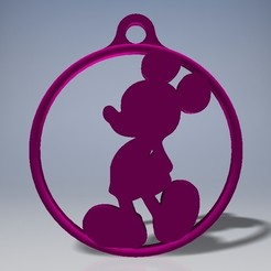 3D printing model Mickey key ring, caster