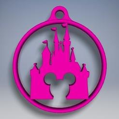 3D print model Castle key ring, caster