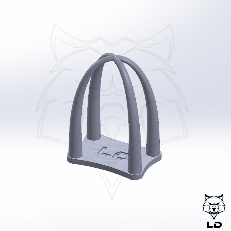 LD 40mm String Test Tower 1.jpg Télécharger fichier STL gratuit Tour d'essai de chaînes LD MK1 • Objet à imprimer en 3D, Lobo_Dorado_3D