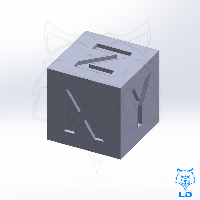 LD 20mm Calibration Cube 1.jpg Télécharger fichier STL gratuit Cube d'étalonnage LD 20mm • Plan à imprimer en 3D, Lobo_Dorado_3D