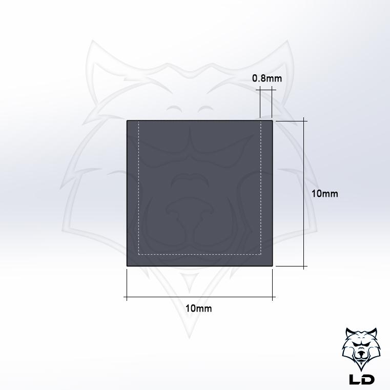 LD 10mm Flowrate Calibration Cube 2.jpg Télécharger fichier STL gratuit Cube d'étalonnage de débit LD 10mm MK1 • Plan à imprimer en 3D, Lobo_Dorado_3D
