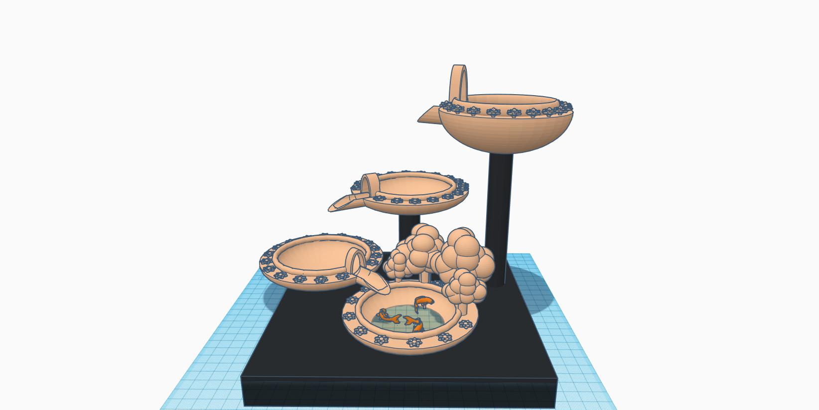 Pondy.png Télécharger fichier STL gratuit Cascade de chutes d'eau avec Koi • Modèle pour imprimante 3D, MinerBatman