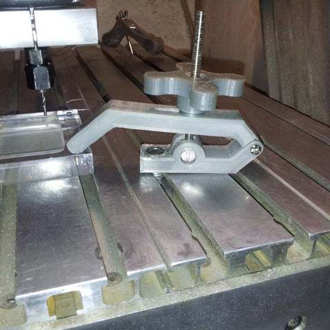 Download free 3D printing models clamp for CNC, Porelynlas
