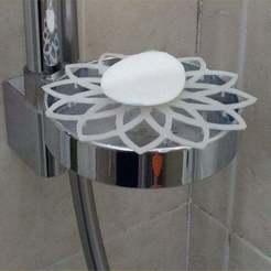 Télécharger plan imprimante 3D gatuit porte-savon pour douche, Porelynlas