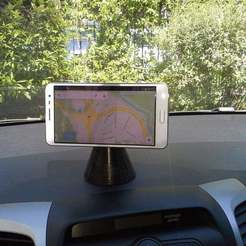 Download free 3D printing templates magnetic mount for smartphones in cars, Porelynlas