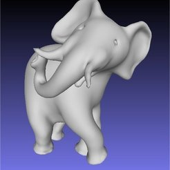 Download free STL elephant standing, Porelynlas