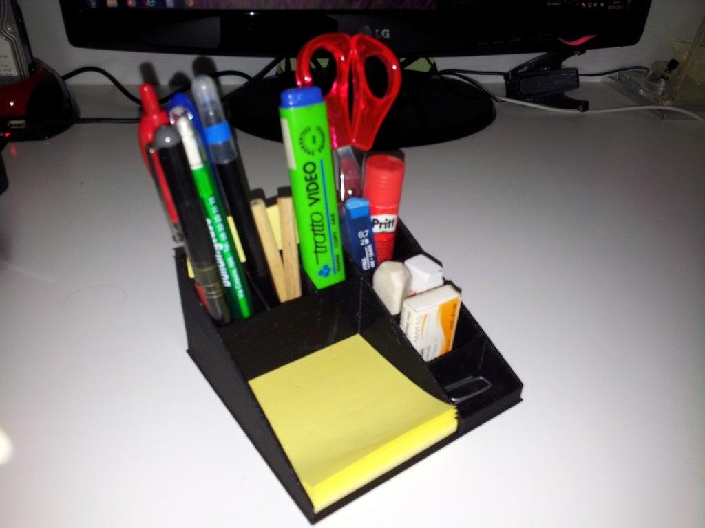 2013-10-10_14.07.51_display_large.jpg Download free STL file pen holder - eliminates desktop clutter • 3D printer design, Porelynlas