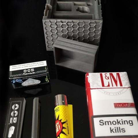 Impresiones 3D Caja de almacenamiento de tabaco y accesorios, arnaudt