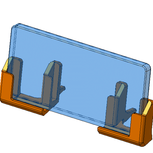 Download free 3D printing designs Phone holder for cars (ver.1, 15degree setting), yukio
