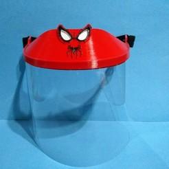Spiderman.jpg Download STL file KIDS SPIDERMAN FACE MASK HEADBAND • Model to 3D print, F3D_93