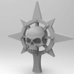 Download free 3D printing templates Anarchy Skull Icon, Worldhopper
