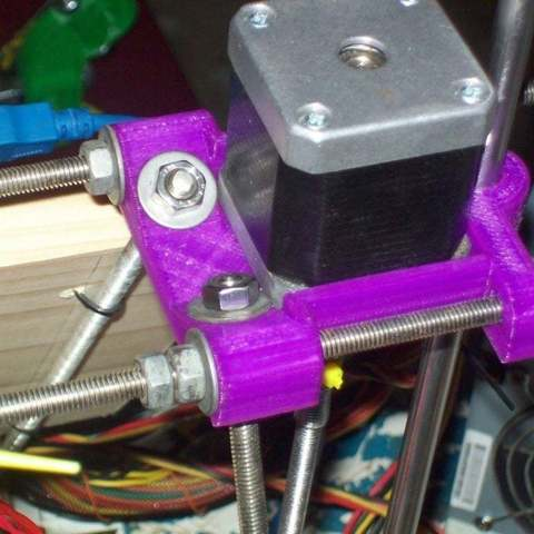 Download free 3D printing files Integrated Z motor mount, frame vertex and rod clamp for Prusa Mendel, Reneton