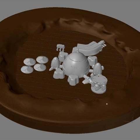 victoria1_display_large.jpg Télécharger fichier STL gratuit Mars base Inside Victoria Crater • Objet pour impression 3D, Reneton