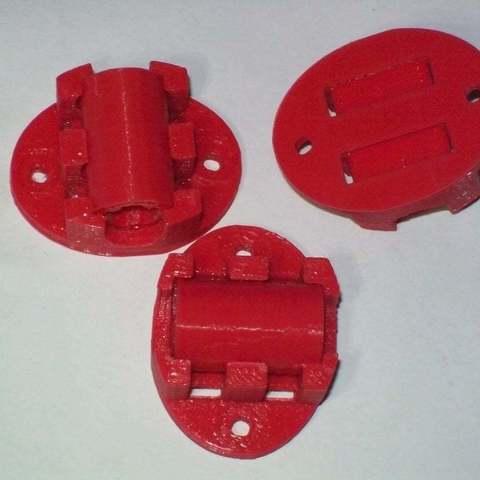 Télécharger plan imprimante 3D gatuit Support LM8UUU axe Y avec ailettes et fentes de fermeture à glissière, Reneton