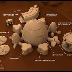 Download free 3D print files Mars base Inside Victoria Crater, Reneton