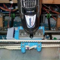Impresiones 3D gratis Soporte Dremel para carro prusa X, Reneton