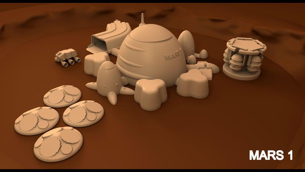 mars1_copia_display_large.jpg Télécharger fichier STL gratuit Mars base Inside Victoria Crater • Objet pour impression 3D, Reneton