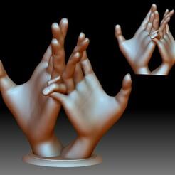Couple Hands 3d printable model STL file idea for printing.jpg Download STL file Hands couple love sign 3D printable model  • 3D printer design, voronzov