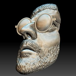 Download STL file Leon killer portrait bas-relief stl, voronzov