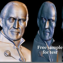 Tywin Lannister 3D portrait relief for CNC router.jpg Download free STL file Custom 3D portrait by your photo - bas-relief for CNC router • 3D printable object, voronzov