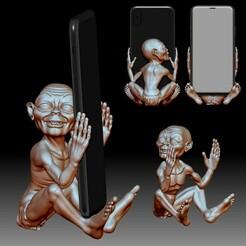 Phone holder stand 3D printable model My precious STL OBJ  file.jpg Télécharger fichier STL Support de téléphone pour tout type de téléphone portable • Modèle pour impression 3D, voronzov