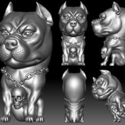 Pit Bull 3D STL file printable Bully model for 3D printer.jpg Download STL file Pit Bull 3D STL file printable Bully model • 3D printing template, voronzov