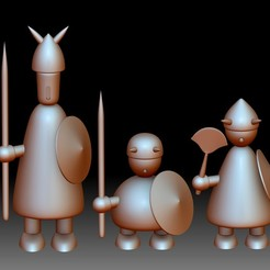 Vikings Denmark Jacob Jensen 3D printable model solid and divided into parts.jpg Download STL file Vikings Denmark Jacob Jensen printable models - solid and divided into parts • 3D print model, voronzov